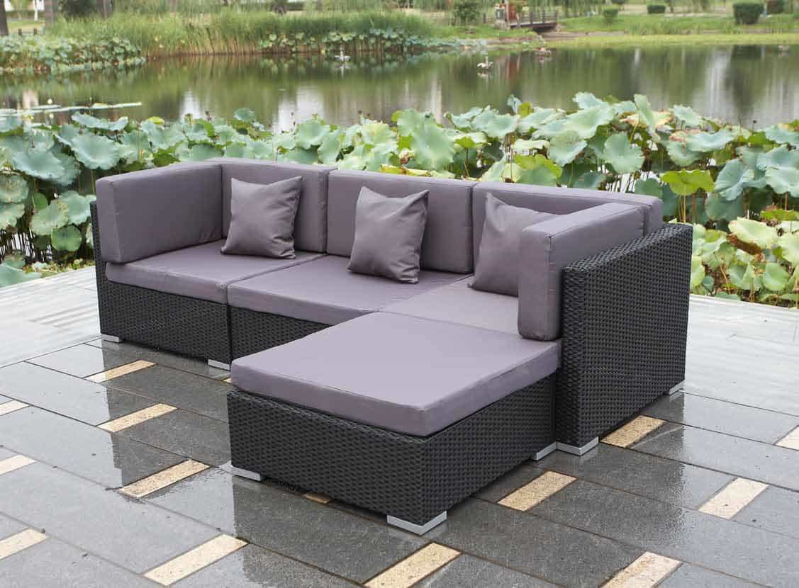 Rattan cubes costa sofa set for garden and patios for Rattan outdoor furniture