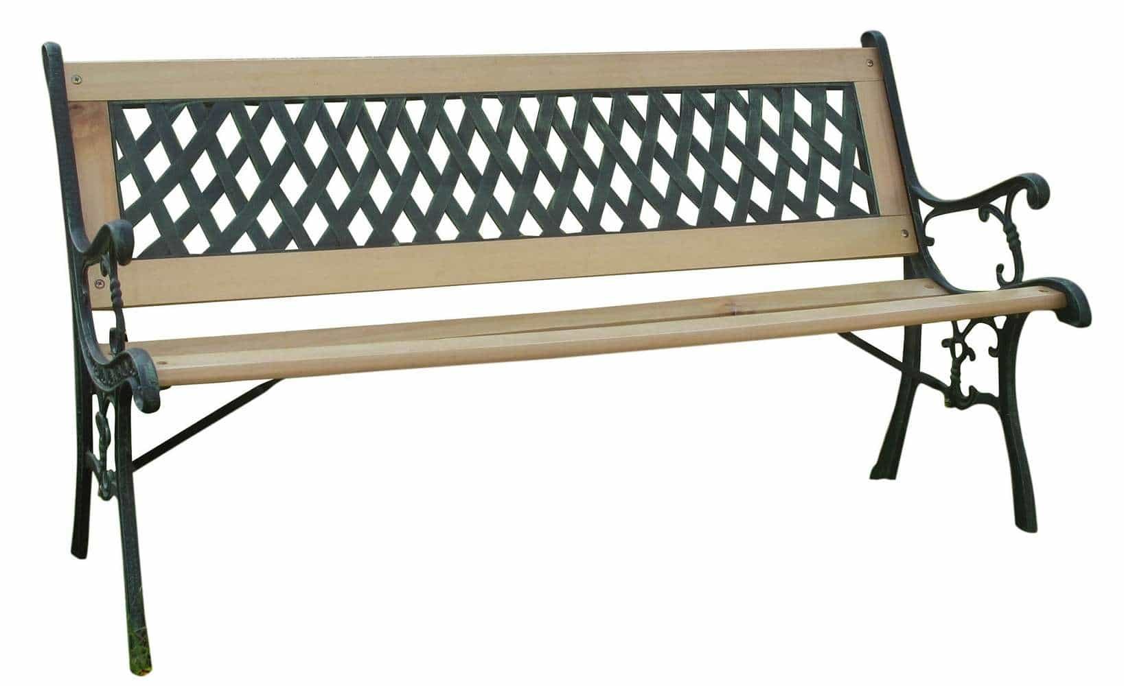 Wooden Bench With Steel Supports This Item Is Strong And