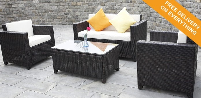 creating the stylish garden rattan cube. Black Bedroom Furniture Sets. Home Design Ideas