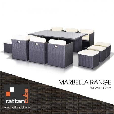 12 Seater Marbella Rattan Set