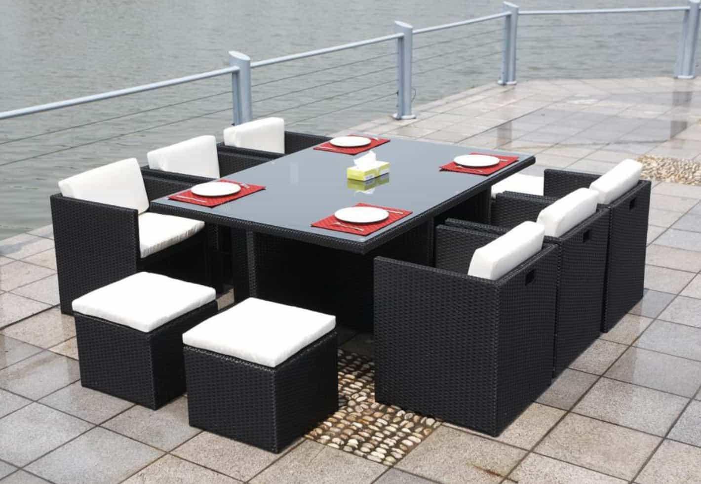 amazing rattan cube set garden furniture contemporary home