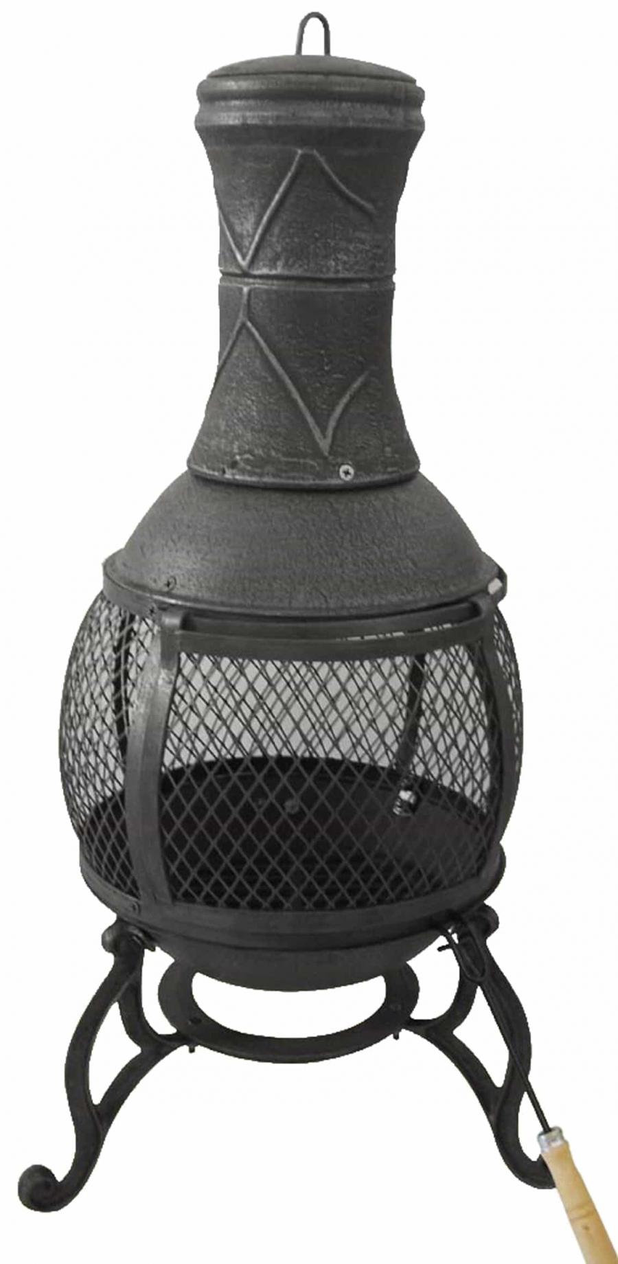 Fire Chimney Rattan Cube