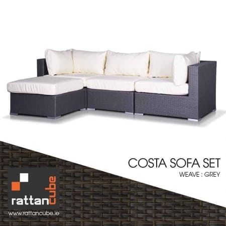 Costa Grey Rattan Furniture Set