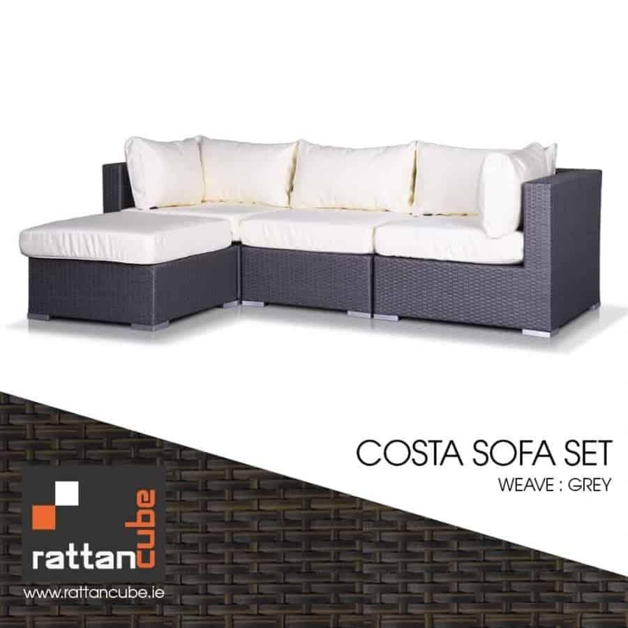 Costa Grey Rattan Furniture Set