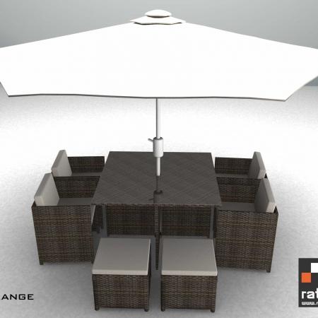 3m banana aluminium parasol cream garden furniture for Outdoor furniture ireland