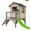 sunny playhouse cabin with steps and slide