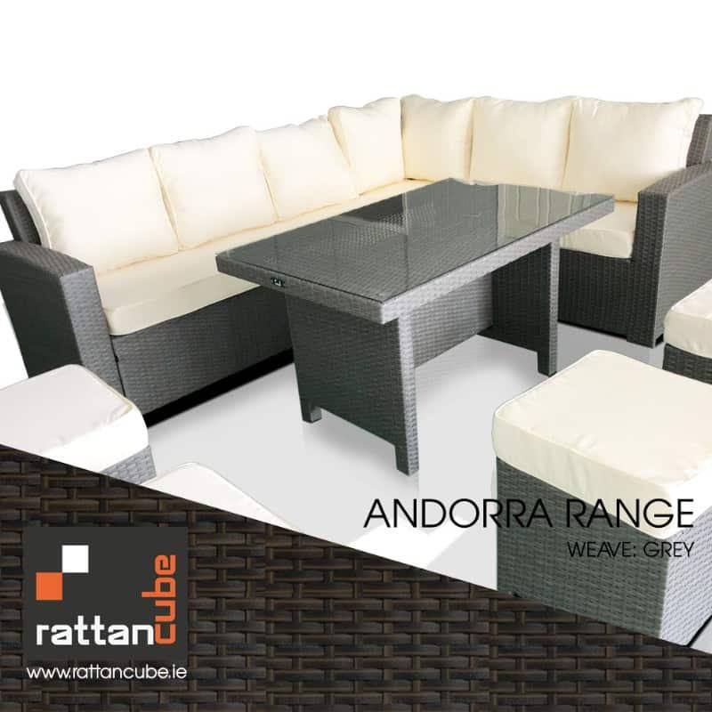 Andorra Rattan Corner Sofa 10 Seater Garden Furniture