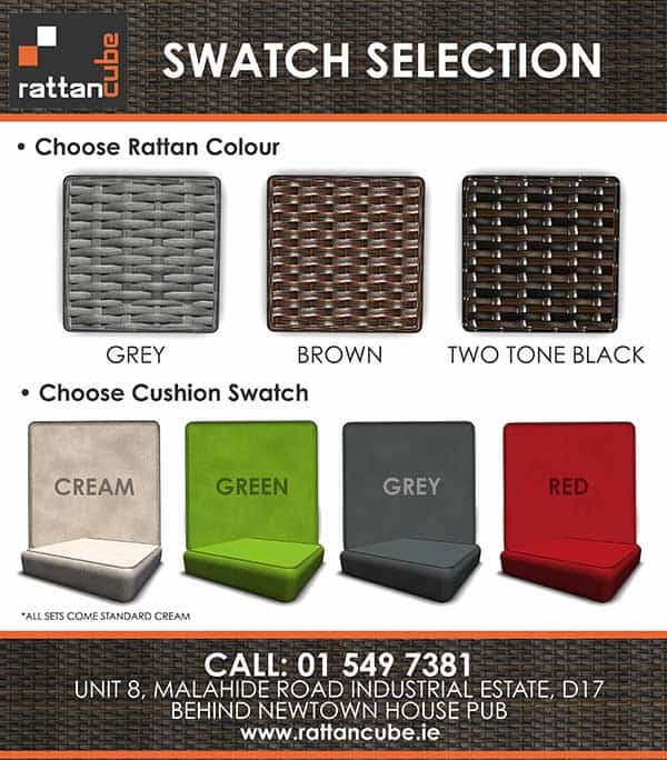 colour swatched for rattan garden furniture
