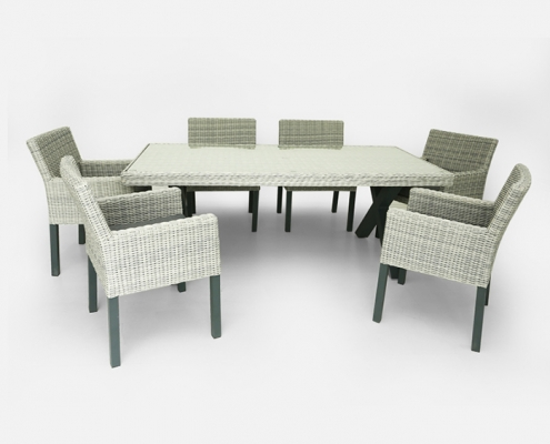 tuscany rattan furniture set with 6 chairs